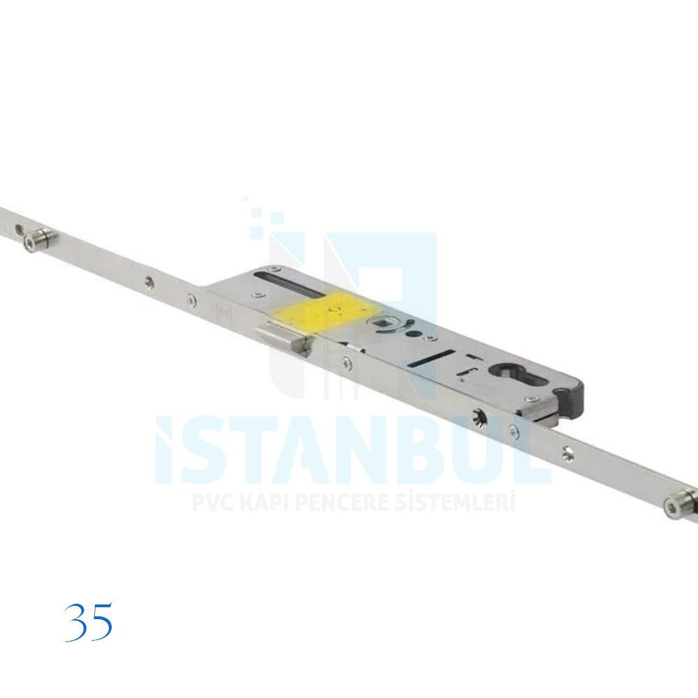 Vorne 180 lık Metal Gövde Kilitli Kapı İspanyoleti 35/85 16 mm SK4 (Dilli)